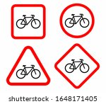 bicycle icon set. bike road... | Shutterstock .eps vector #1648171405
