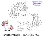 connect the dots and draw cute... | Shutterstock .eps vector #1648187752