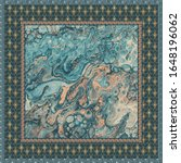 pattern silk scarf design with... | Shutterstock .eps vector #1648196062