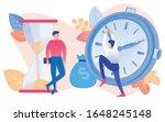 cartoon people with sandglass...   Shutterstock .eps vector #1648245148