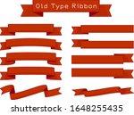 set of red retro ribbons | Shutterstock .eps vector #1648255435
