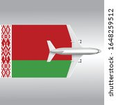 plane and flag of belarus.... | Shutterstock .eps vector #1648259512