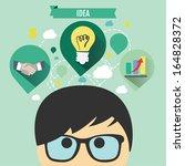 business idea concept | Shutterstock .eps vector #164828372