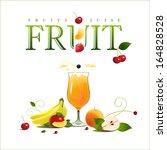 glass of juice. ripe fruit.... | Shutterstock .eps vector #164828528