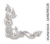 thai art silhouette of frame...   Shutterstock .eps vector #1648298128