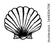 vintage monochrome scallop...   Shutterstock . vector #1648306708