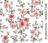 seamless floral pattern with... | Shutterstock .eps vector #1648317148