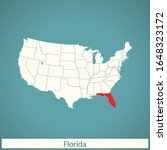 vector map of the florida | Shutterstock .eps vector #1648323172