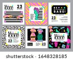 colourful cards with acid...   Shutterstock .eps vector #1648328185