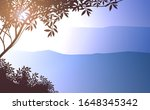 natural forest mountains...   Shutterstock .eps vector #1648345342