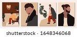 set of abstract modern man... | Shutterstock .eps vector #1648346068