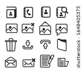outline email icon template....