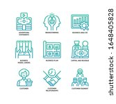 business model canvas icons set ... | Shutterstock .eps vector #1648405828