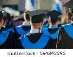 crowd of graduate students from ... | Shutterstock . vector #164842292