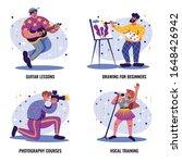 hobbies classes concept 4 flat...   Shutterstock .eps vector #1648426942