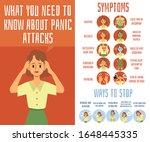 panic attack medical symptoms... | Shutterstock .eps vector #1648445335