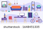 big vector set with stylized... | Shutterstock .eps vector #1648451335