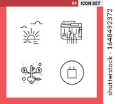 4 icon pack line style outline... | Shutterstock .eps vector #1648492372