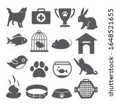 pet shop icons set on white... | Shutterstock .eps vector #1648521655
