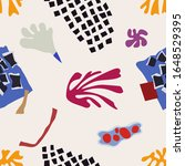 seamless patterns with hand... | Shutterstock .eps vector #1648529395
