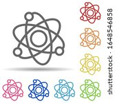 atoms in multi color style icon....
