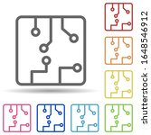 chip in multi color style icon. ...