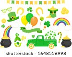 set of st. patrick s day icons... | Shutterstock .eps vector #1648556998