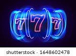 neon slot machine coins wins... | Shutterstock .eps vector #1648602478