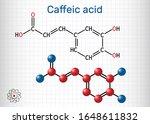 caffeic acid  c9h8o4 molecule.... | Shutterstock .eps vector #1648611832