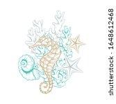 ocean and sea marine line art ... | Shutterstock .eps vector #1648612468