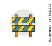 blocking board  icon for under...   Shutterstock .eps vector #1648631302