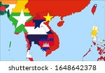 center the map of vietnam.... | Shutterstock .eps vector #1648642378