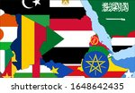 center the map of sudan. vector ... | Shutterstock .eps vector #1648642435