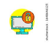 locked computer for cyber...   Shutterstock .eps vector #1648646125