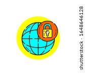 safety global access for cyber...   Shutterstock .eps vector #1648646128