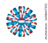 luxembourg flag  rosette and... | Shutterstock .eps vector #1648647352