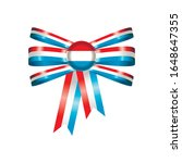 luxembourg flag  rosette and... | Shutterstock .eps vector #1648647355