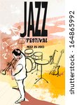 vector illustration of a jazz... | Shutterstock .eps vector #164865992