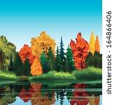 Autumn Nature Landscape With...