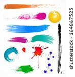grungy design colorful elements.... | Shutterstock .eps vector #164867525