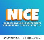 bold 3d cartoon text effect  3d ... | Shutterstock .eps vector #1648683412