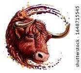red bull. artistic  color ...   Shutterstock .eps vector #1648715545