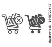 remove from shopping cart line... | Shutterstock .eps vector #1648720642