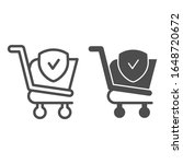 checked shopping cart line and... | Shutterstock .eps vector #1648720672