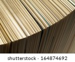 book open  detail of the pages  | Shutterstock . vector #164874692