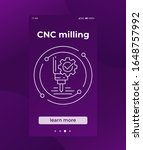 cnc milling  mobile vector...