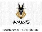 anubis egyptian god icon... | Shutterstock .eps vector #1648782382