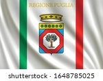 flag of apulia waving in the... | Shutterstock .eps vector #1648785025