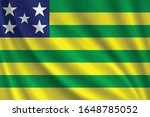 flag of goias waving in the... | Shutterstock .eps vector #1648785052