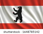 flag of berlin waving in the... | Shutterstock .eps vector #1648785142